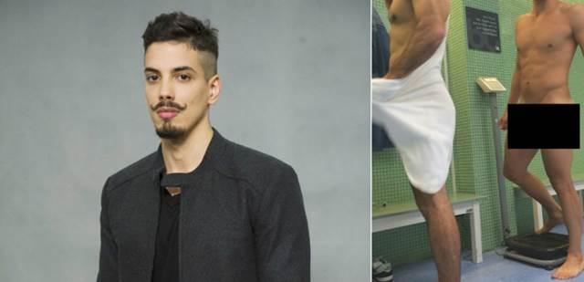 Ator Felipe de Carolis pelado em fotos na academia