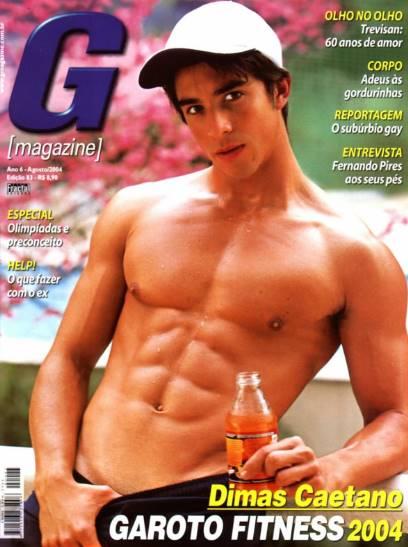Dimas Caetano nu para a G Magazine